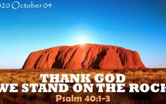 THANK GOD WE STAND ON THE ROCK